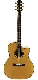 Foto: eine Gitarre mit Cutaway-Aussparung hochkannt
