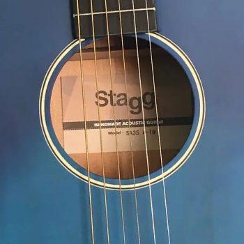 Foto: Stagg SA 35 A-TB - blau - Akustikgitarre - Ansicht Front Detail