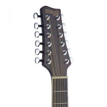 Foto: Stagg SA40MJCFI/12-N - Western/Akustikgitarren mit Tonabnehmer - Ansicht Kopf