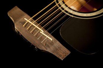 Foto: Takamine GF30CE-BLK G-Series G30 - Akustikgitarren - Ansicht Brücke Detail