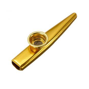 Foto: Kazoo, goldfarben - Ansicht Vorderseite, schräg von oben