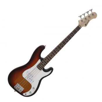 Foto: Mini-E-Bass - Bassgitarre sunburst - Front