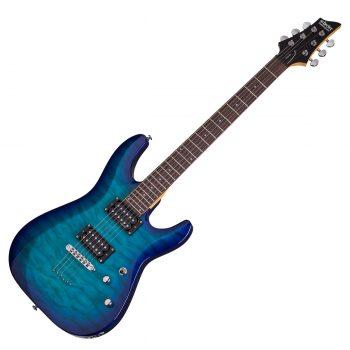 Foto: Schecter C-6 Plus E-Gitarre - ocean burst blue - Front