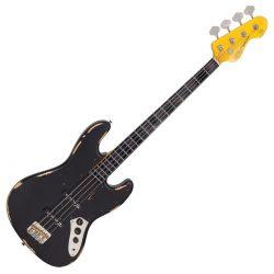 Foto: Vintage Bass VJ74 black - Bassgitarre - Front
