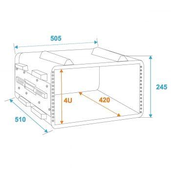 Foto: Case ABS 4HE - Außen- und Innenmaße