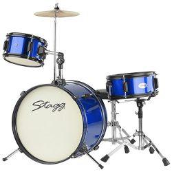 Foto: Junior Drumset Kinderschlagzeug Blau - Front