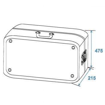 Grafik: Turntablecase mit Butterfly schwarz - Außenmaße