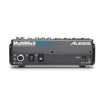Foto: Alesis MultiMix 8 USB-Mischpult Mixer - Rückseite