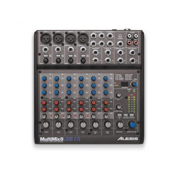Foto: Alesis MultiMix 8 USB-Mischpult Mixer - Top