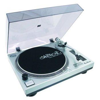 Foto: Omnitronic DD 2250 Plattenspieler - Top und Front linksseitig
