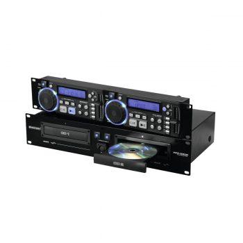 Foto: Omnitronic XCP-2800 Doppel-CD-Player - Front und rechte Seite