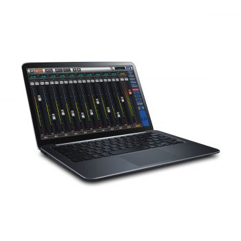 Foto: Soundcraft UI12 - Laptop mit Mixer-Software