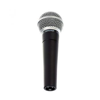 Foto: Shure SM58 Mikrofon - Frontansicht von unten