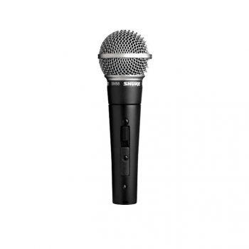 Foto: Shure SM58SE Mikrofon - Frontansicht mit Schalter