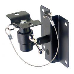 Foto: Boxenwandhalter mit Kugelgelenk schwarz - Ansicht seitlich