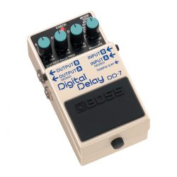Foto: Boss DD-7 Digital Delay Bodeneffekt Effektpedal - Top und links