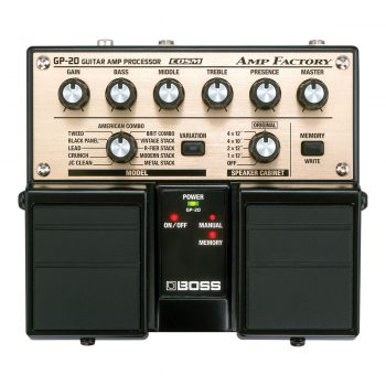 Foto: Boss GP-20 Guitar Amp Processor Bodeneffekt Effektpedal - Top