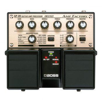 Foto: Boss GP-20 Guitar Amp Processor Bodeneffekt Effektpedal - Top
