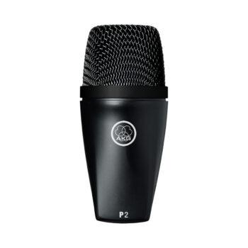 Foto: eiförmiges Mikrofon mit schwarzem Korb oberhalb und spitz zulaufendem schwarzem Gehäuse