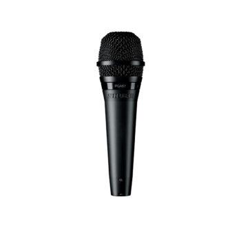 Foto: komplett schwarzes Mikrofon